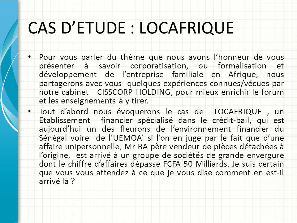 CAS D'ETUDE : LOCAFRIQUE