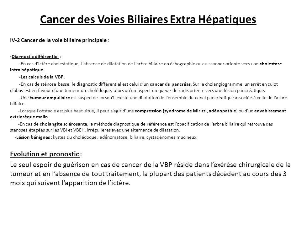 Cancer des Voies Biliaires Extra Hépatiques