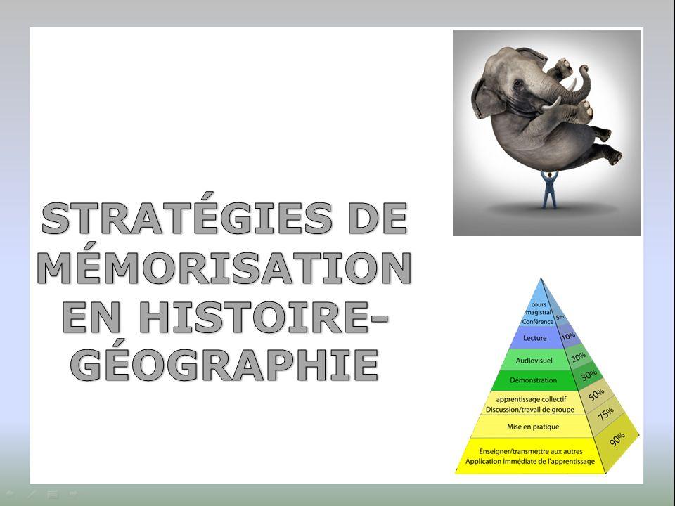 STRATÉGIES DE MÉMORISATION EN HISTOIRE- GÉOGRAPHIE