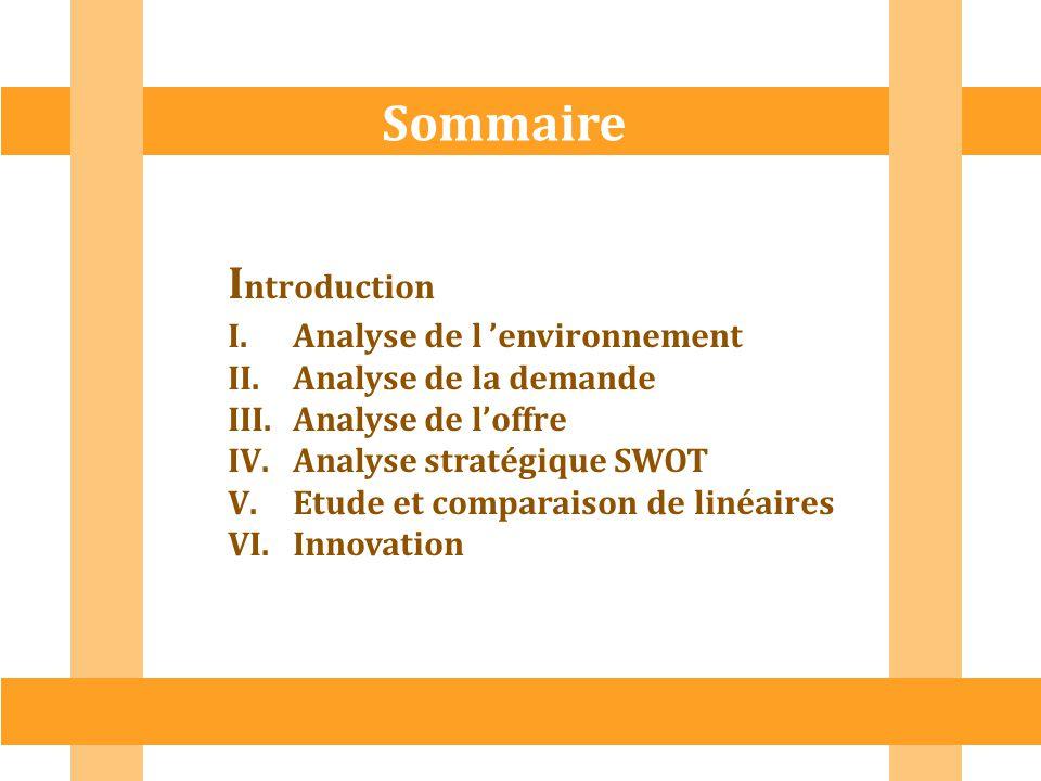 Sommaire Introduction Analyse de l 'environnement