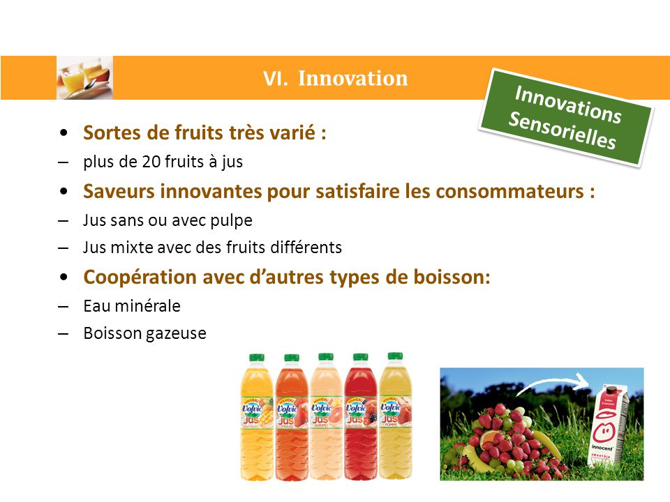 Innovations Sensorielles
