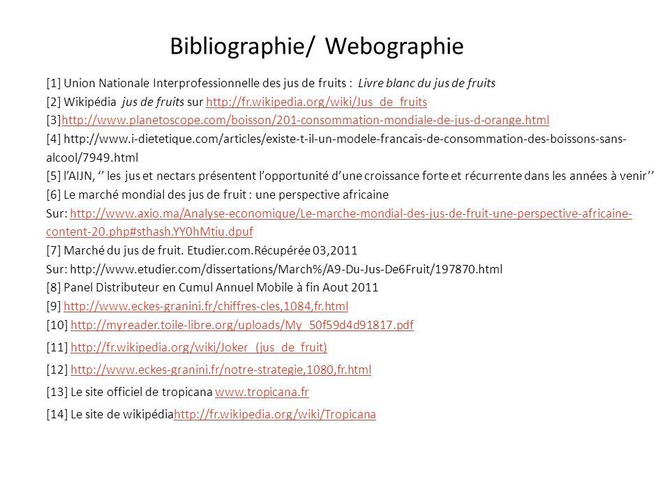 Bibliographie/ Webographie