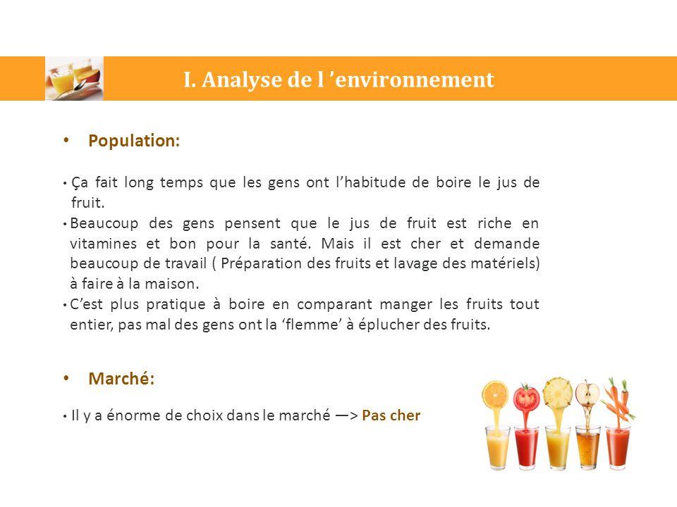 I. Analyse de l 'environnement