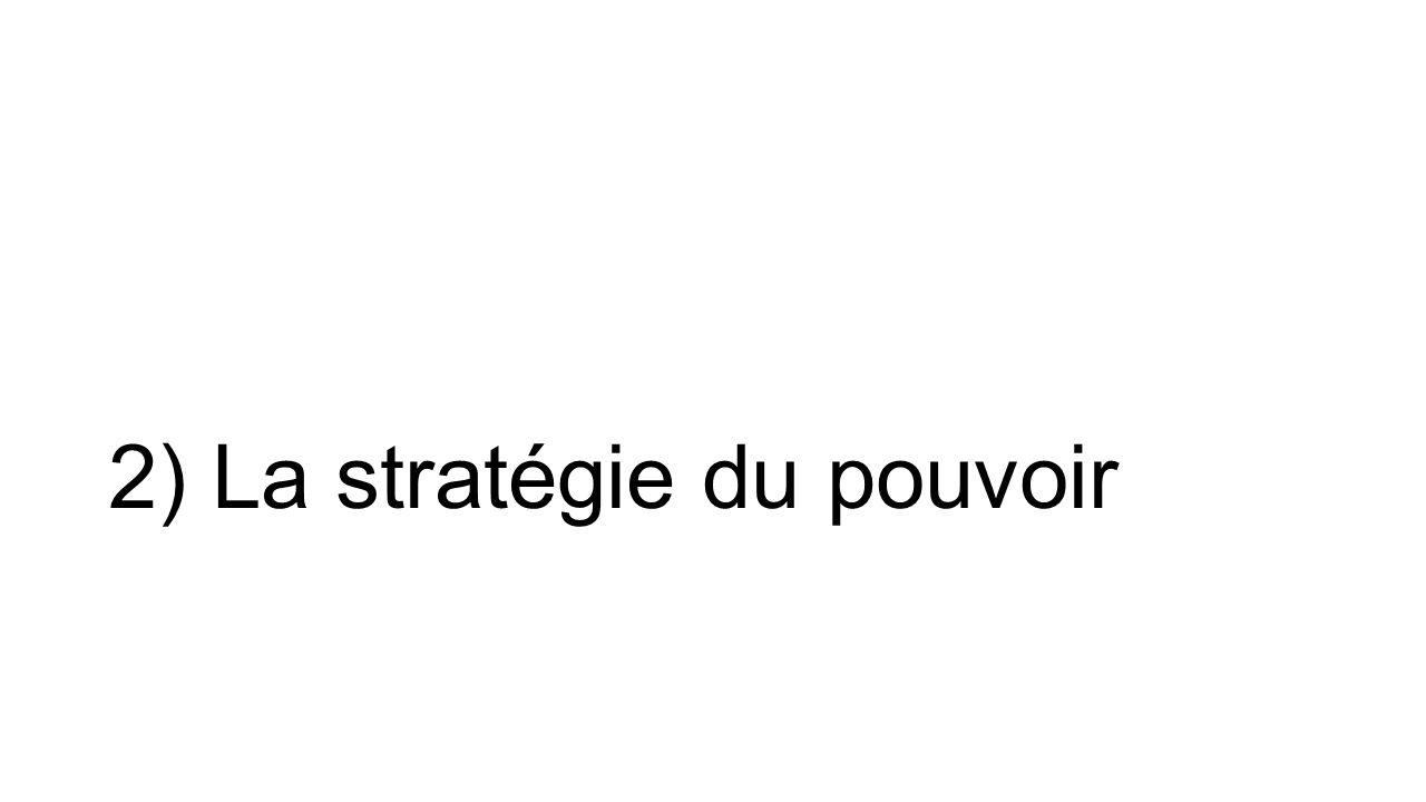 2) La stratégie du pouvoir