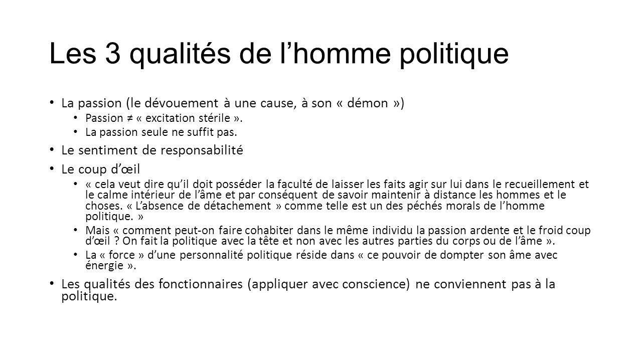 Les 3 qualités de l'homme politique