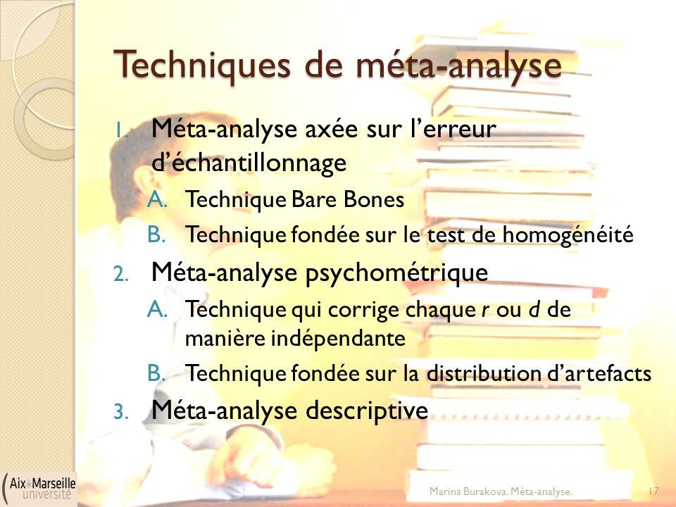 Techniques de méta-analyse