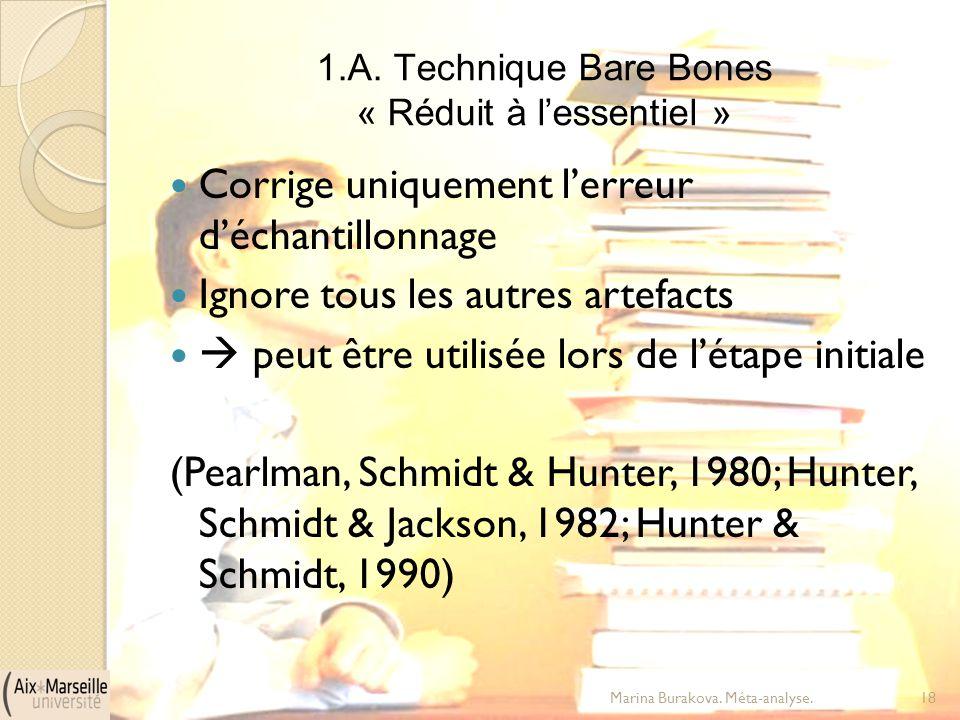 1.A. Technique Bare Bones « Réduit à l'essentiel »