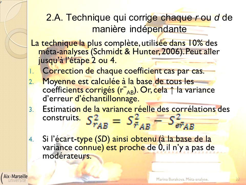 2.A. Technique qui corrige chaque r ou d de manière indépendante