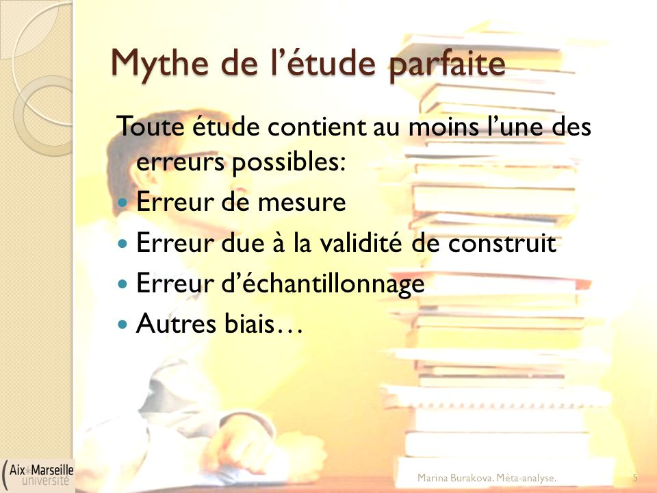 Mythe de l'étude parfaite
