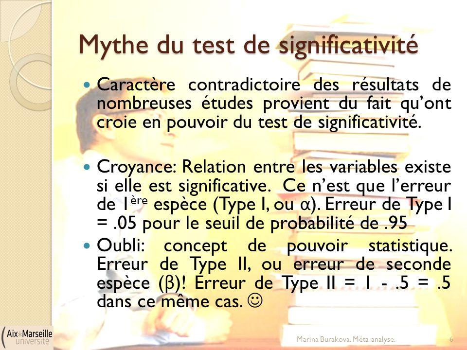 Mythe du test de significativité