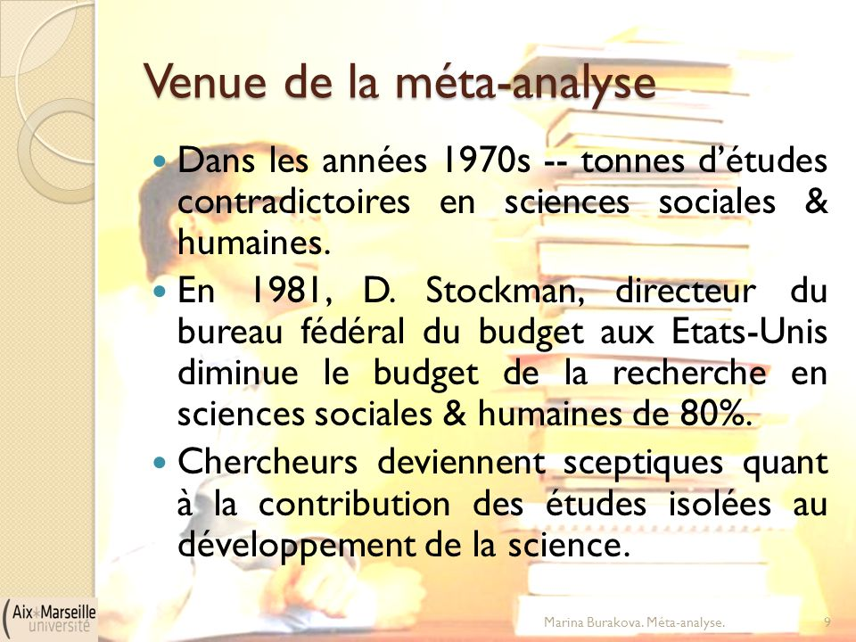 Venue de la méta-analyse