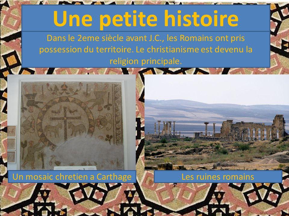Un mosaic chretien a Carthage