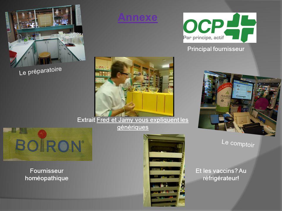 Annexe Principal fournisseur Le préparatoire