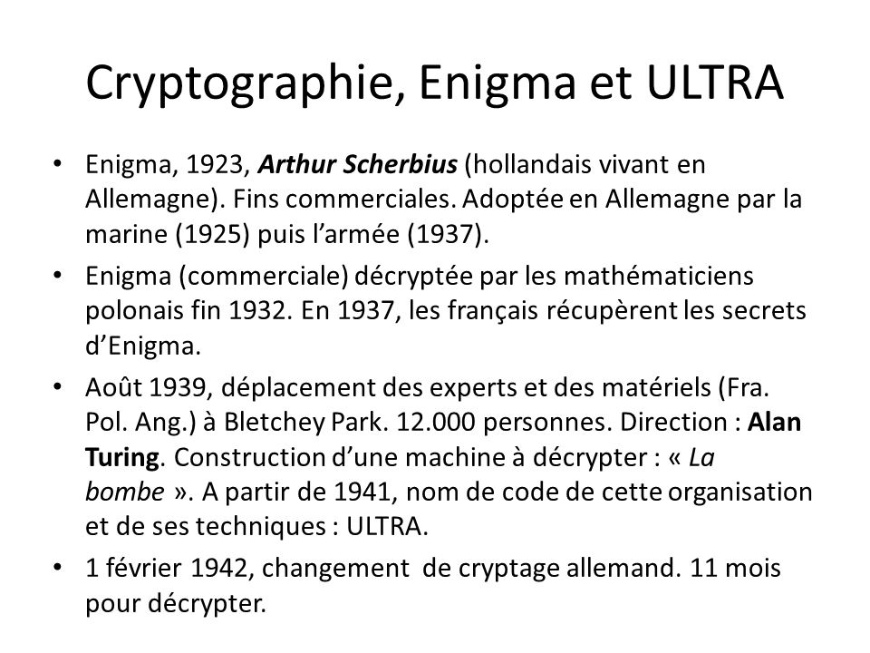 Cryptographie, Enigma et ULTRA