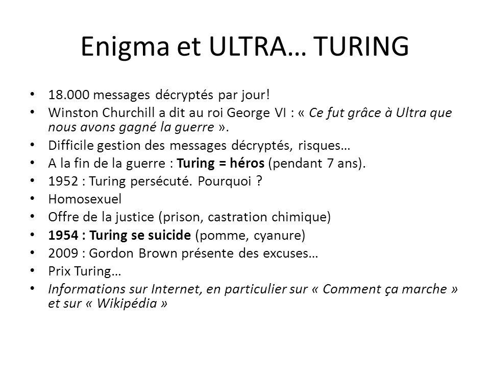 Enigma et ULTRA… TURING