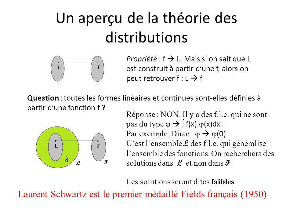 Un aperçu de la théorie des distributions