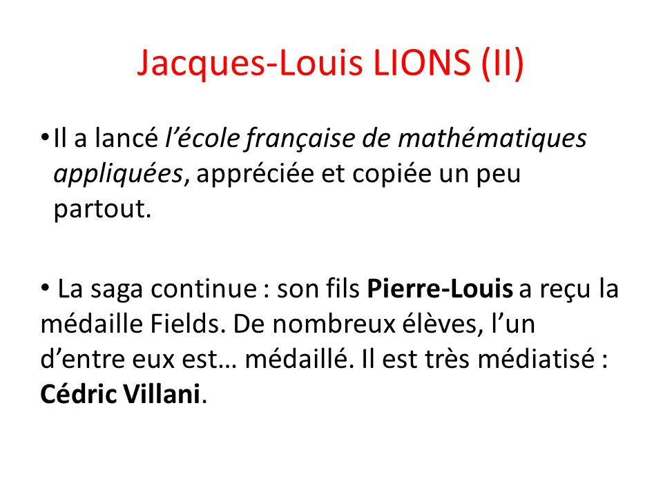 Jacques-Louis LIONS (II)