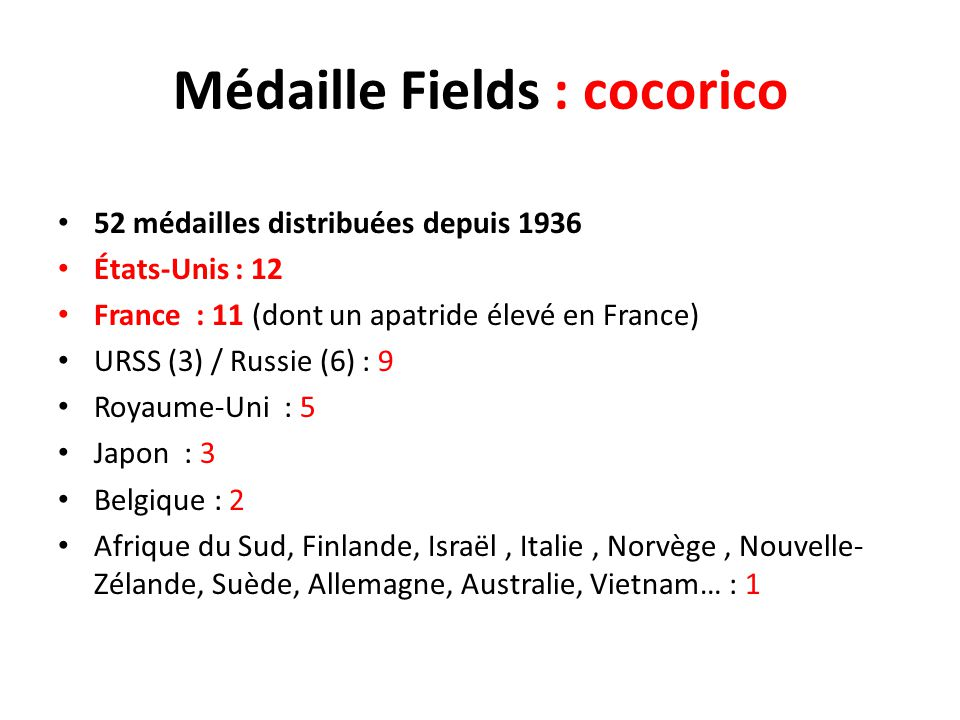 Médaille Fields : cocorico