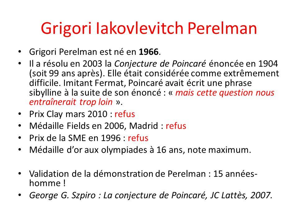 Grigori Iakovlevitch Perelman