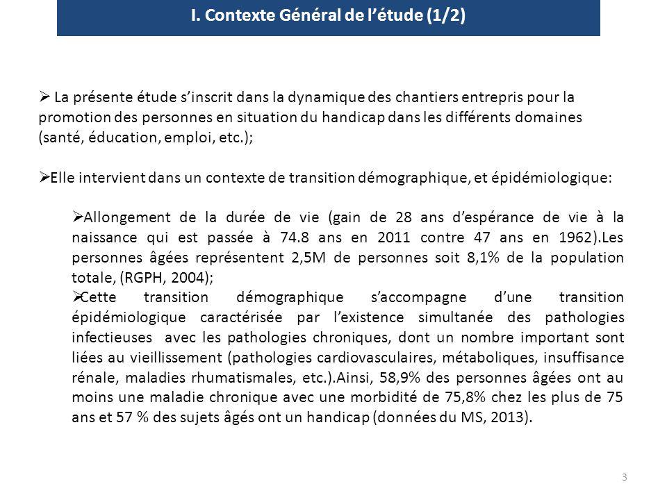 I. Contexte Général de l'étude (1/2)