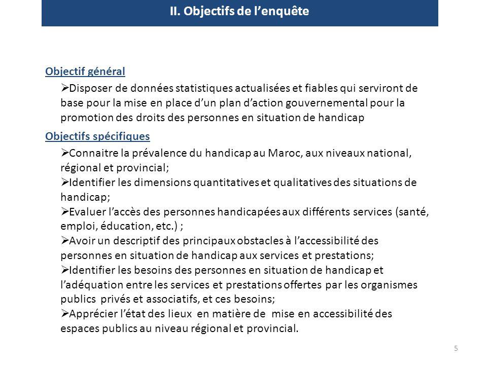 II. Objectifs de l'enquête