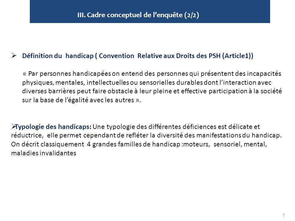 III. Cadre conceptuel de l'enquête (2/2)
