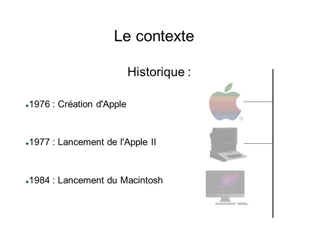 Le contexte Historique : 1976 : Création d Apple
