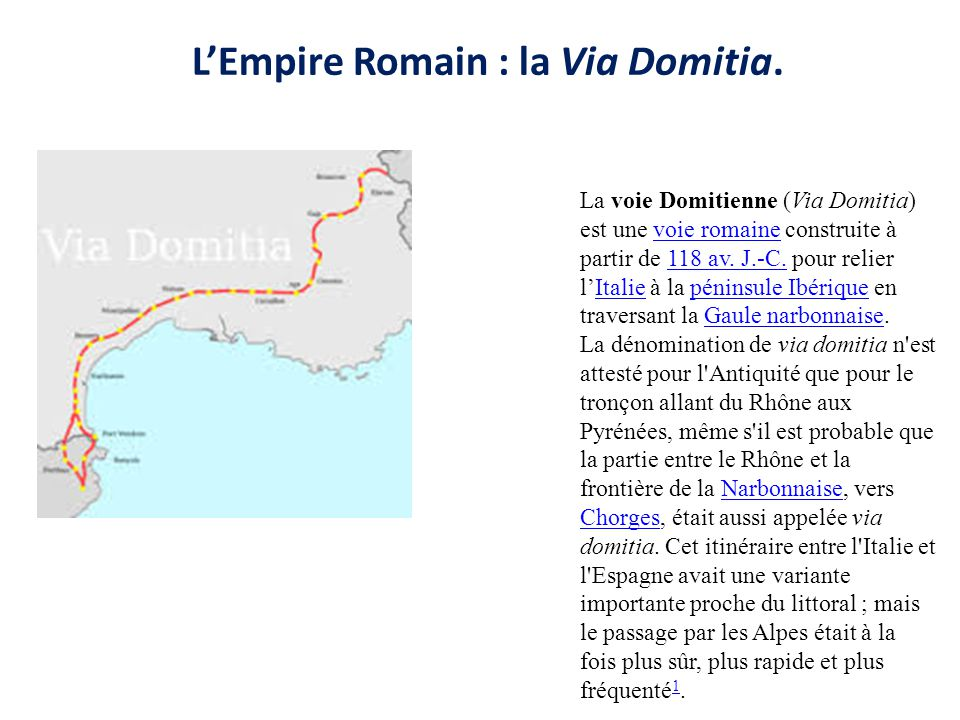 L'Empire Romain : la Via Domitia.