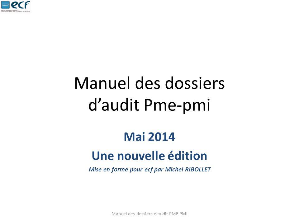 Manuel des dossiers d'audit Pme-pmi