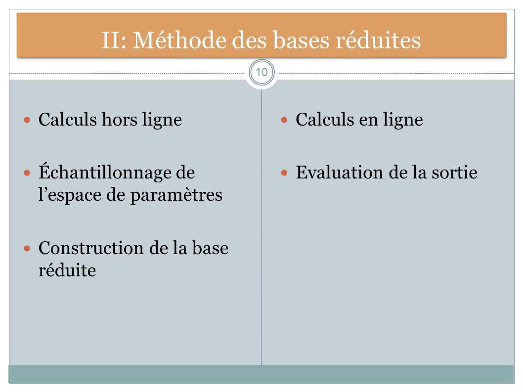 II: Méthode des bases réduites