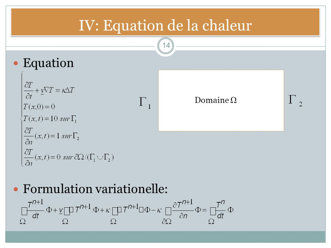 IV: Equation de la chaleur