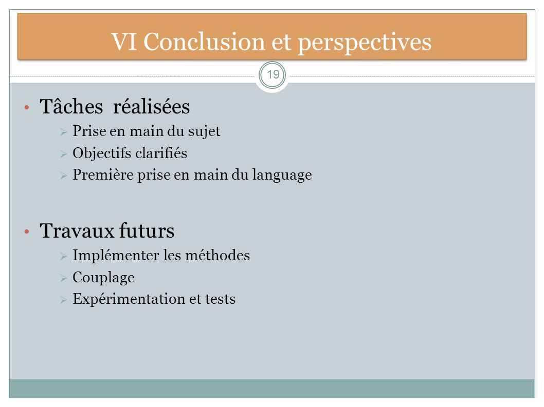 VI Conclusion et perspectives