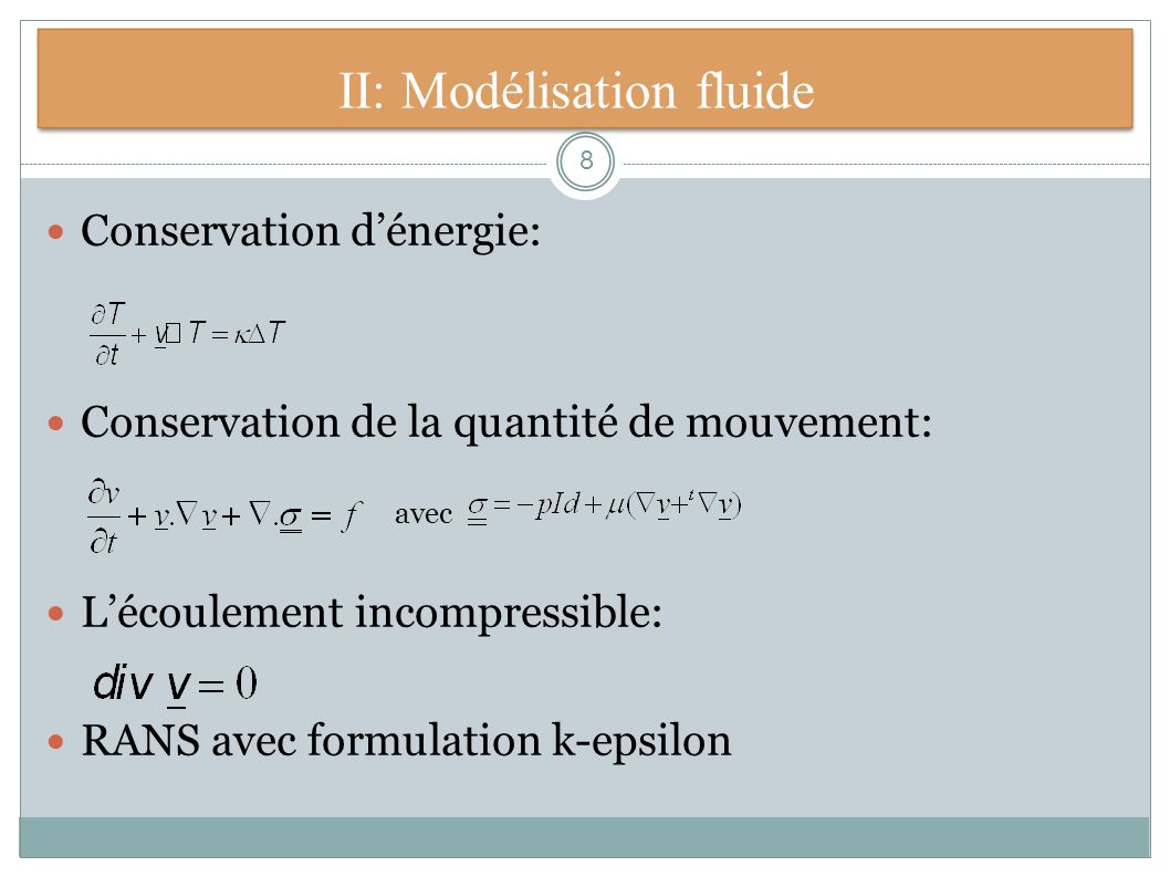II: Modélisation fluide