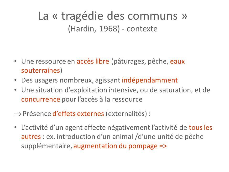 La « tragédie des communs »