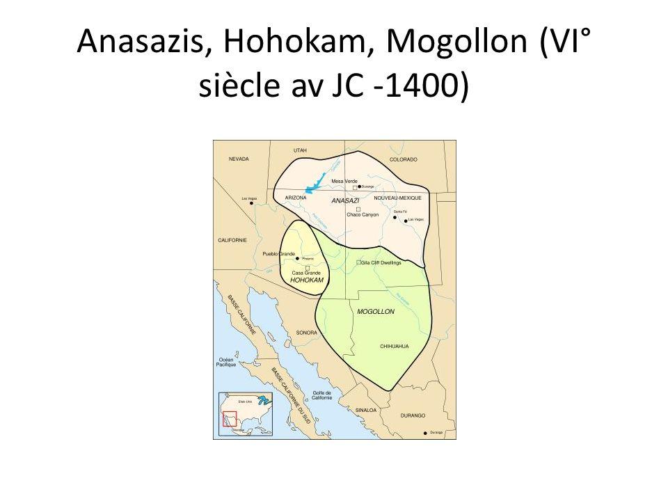 Anasazis, Hohokam, Mogollon (VI° siècle av JC -1400)
