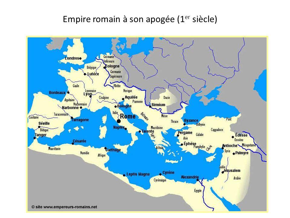 Empire romain à son apogée (1er siècle)