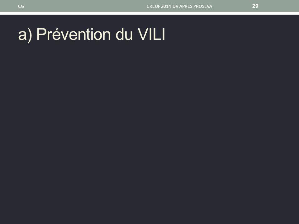 CG CREUF 2014 DV APRES PROSEVA a) Prévention du VILI