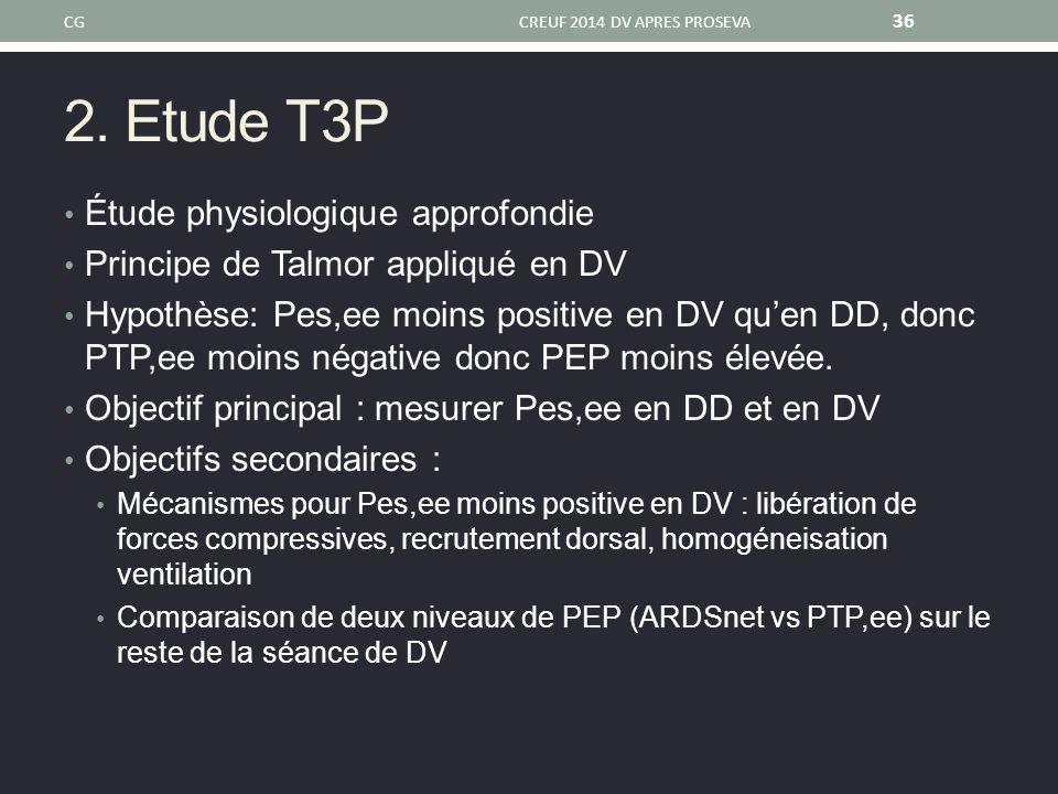 2. Etude T3P Étude physiologique approfondie