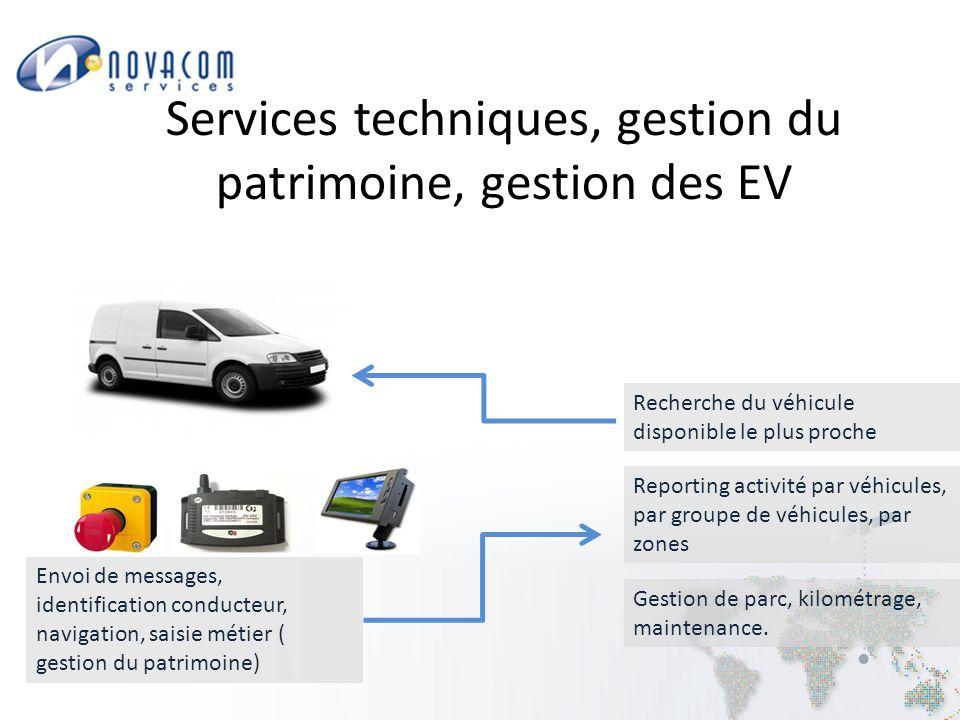 Services techniques, gestion du patrimoine, gestion des EV