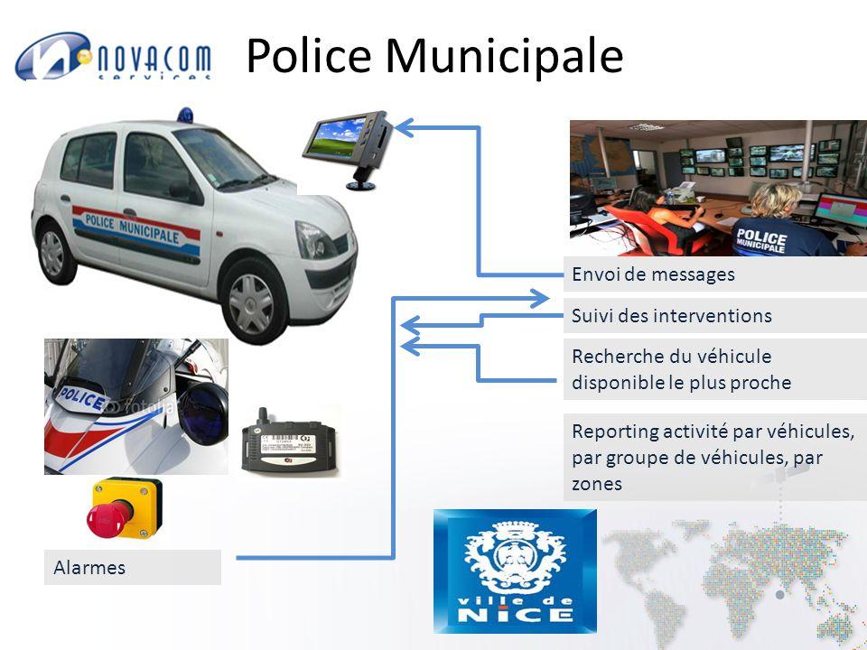 Police Municipale Envoi de messages Suivi des interventions