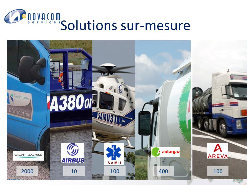 Solutions sur-mesure 2000 10 100 400 100