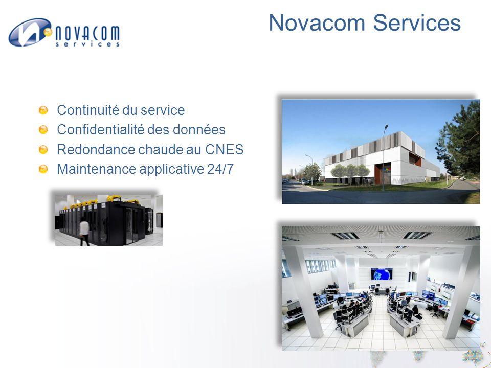 Novacom Services Continuité du service Confidentialité des données