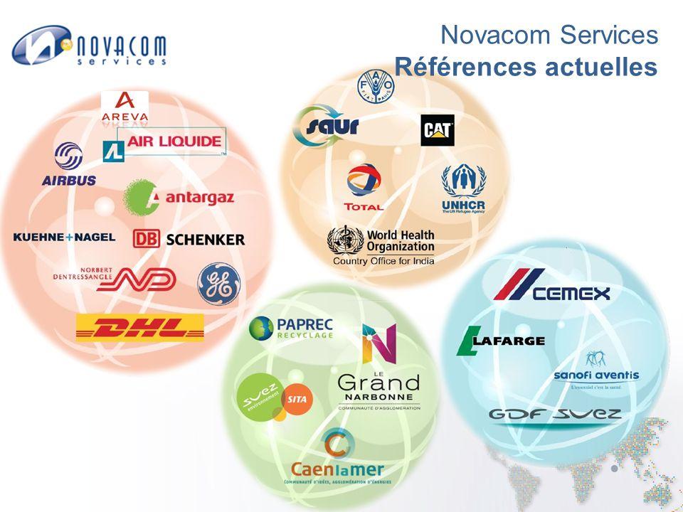 Novacom Services Références actuelles
