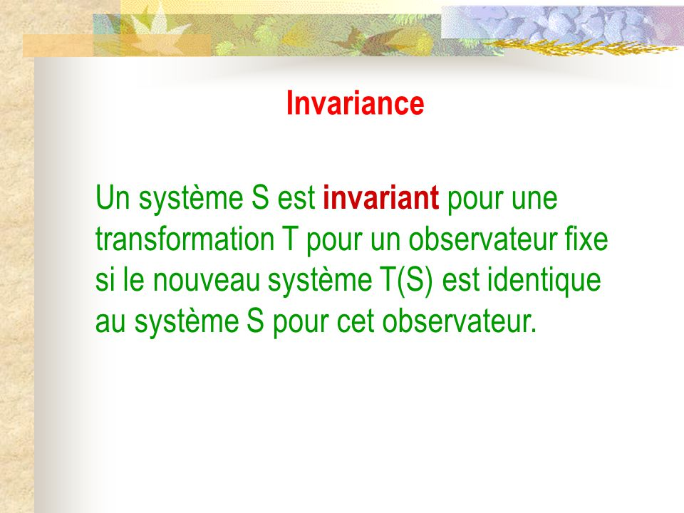 Invariance