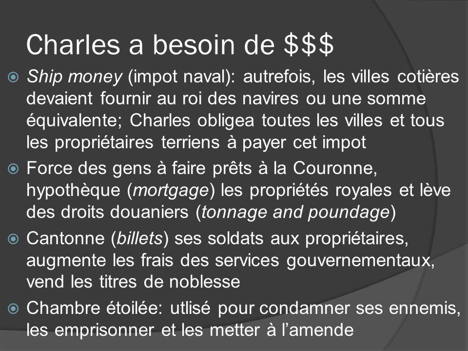 Charles a besoin de $$$