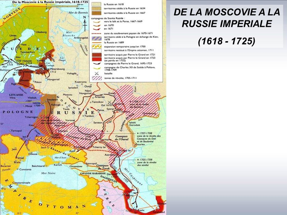DE LA MOSCOVIE A LA RUSSIE IMPERIALE