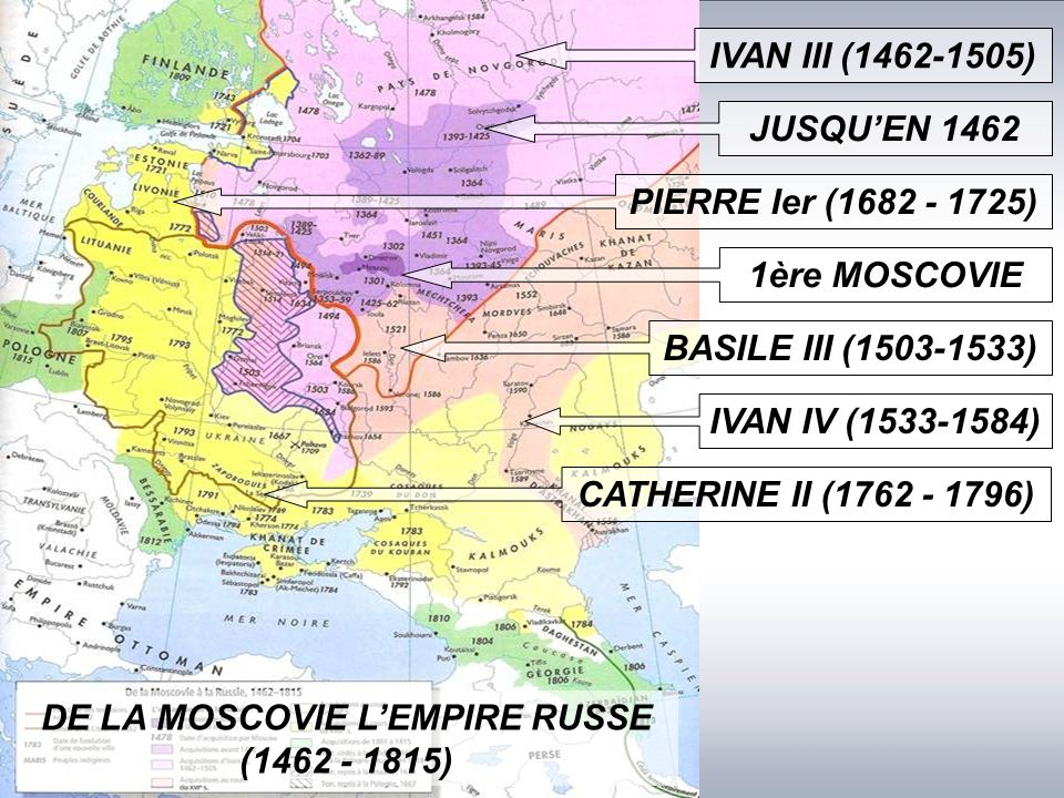 DE LA MOSCOVIE L'EMPIRE RUSSE (1462 - 1815)