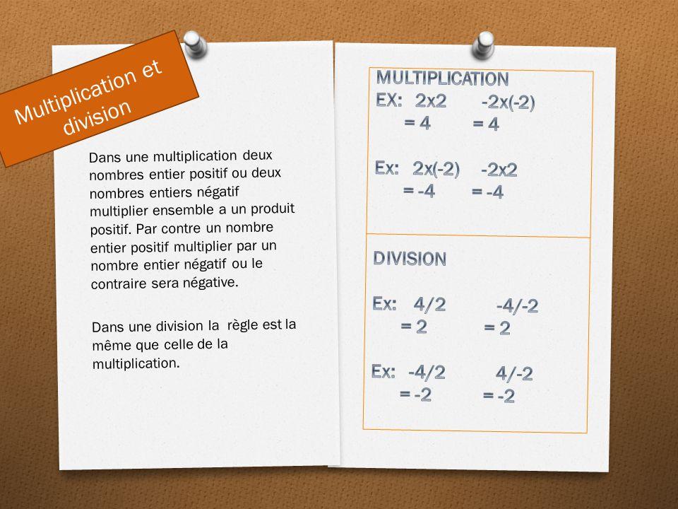 Multiplication et division