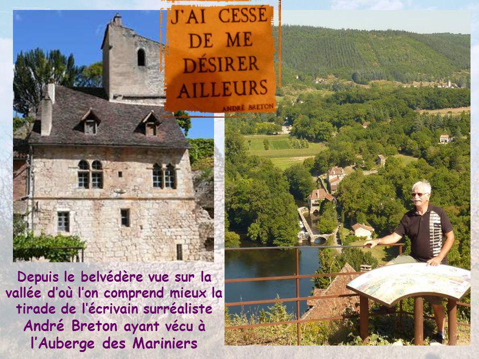 Depuis le belvédère vue sur la vallée d'où l'on comprend mieux la tirade de l'écrivain surréaliste André Breton ayant vécu à l'Auberge des Mariniers