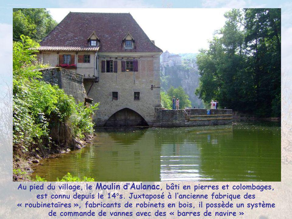 Au pied du village, le Moulin d'Aulanac, bâti en pierres et colombages, est connu depuis le 14°s.